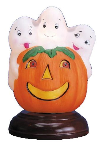 Old World Christmas Halloween Trio of Giggling Ghosts Light -