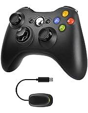 Molyhood Xbox 360 Controller, 2.4 G Wireless Game Controller Gamepad Joystick Dual Vibration Improved Ergonomic Design for Microsoft Xbox & Slim 360 PC Windows 7, 8, 10