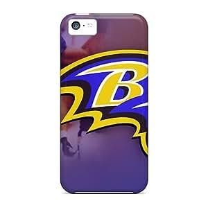 Tpu MeSusges Shockproof Scratcheproof Baltimore Ravens Hard Case Cover For Iphone 5c