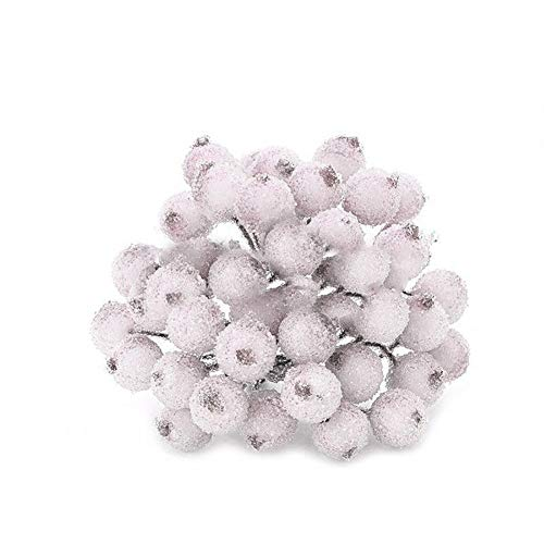 qsbai 1 Bouquet Mini Christmas Foam Frosted Fruit Artificial Holly Berry Home Decor - ()