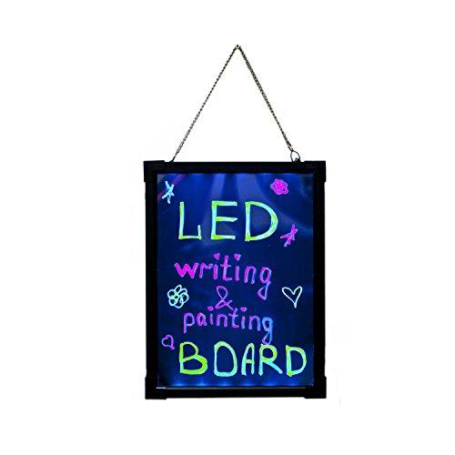 ALEKO TS-WB01 Multicolor Illuminated Erasable Neon LED Message Writing Advertisement Presentation Board, With Controller by ALEKO