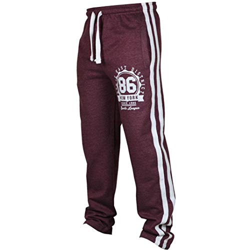 vermers Fashion Men's Sport Jogging Fitness Pants Mens Casual Loose Sweatpants Drawstring Pants(2XL, Wine Red)