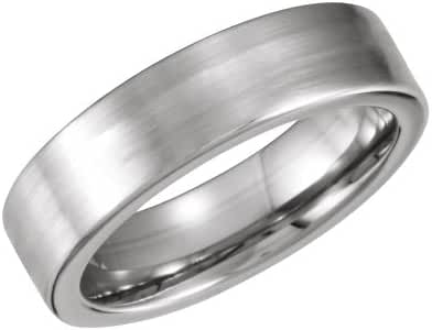 Cobalt/Continuum Sterling Silver 6mm Flat Band Size 10