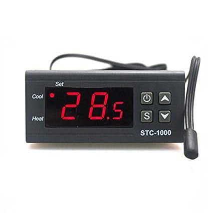 SATKIT Termostato Digital 220V STC-1000 Frio y Calor Incubadoras Acuario con sonda teemperatura