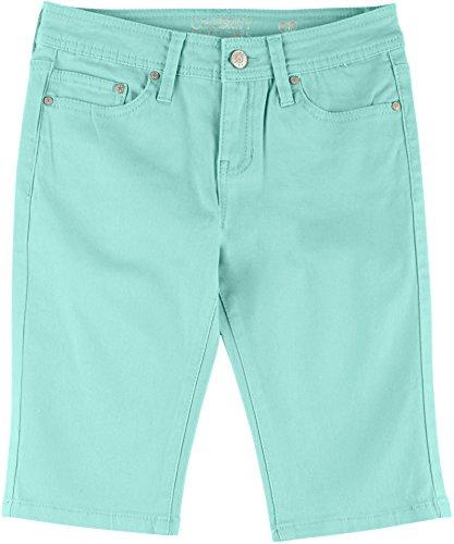 Celebrity Pink Big Girls (7-16) Solid Skimmer Shorts 12 Green