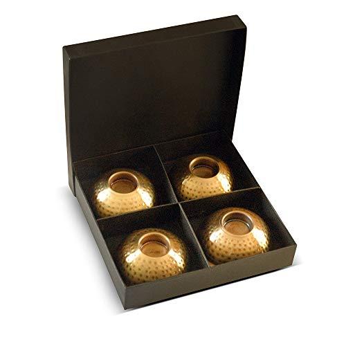 Helping Children Succeed 4 Incense Cone Burner Set in Hammered Brass Finish (Metal, 4 Brass Finish) - Hammered Brass Finish