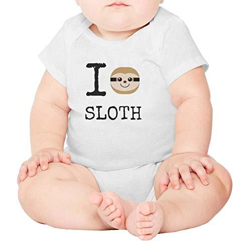 wborn Clothes I Love Sloth Organic Cotton Baby Bodysuit Onesies ()