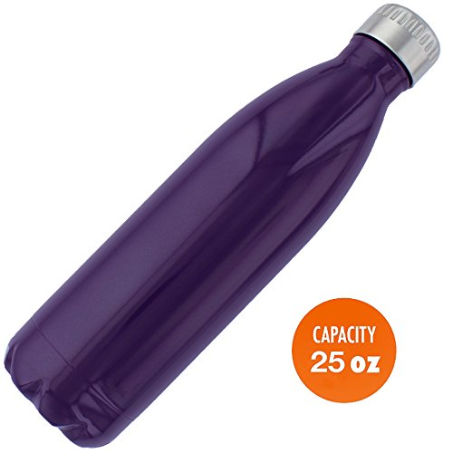 Cool Stainless Steel Water Bottle - Top Gifts 2016 for Mom Dad or Friends. Best for Cold or Hot Drinks. Vacuum seal with metal insulated double walled, BPA Free
