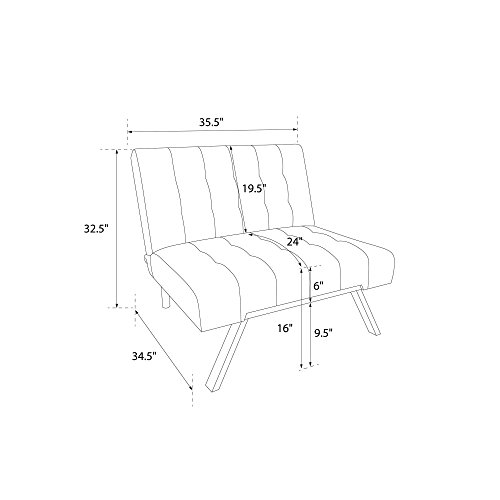 Dhp Emily Futon Sofa Bed Modern Convertible Couch With