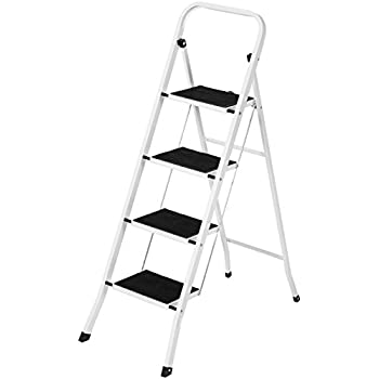 Best Choice Products Portable Folding 4 Step Ladder Steel