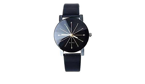 Amazon.com: Fashion Unisex Men Women Watches Casual Leather Hour Digital Quartz Analog Wrist: Clothing