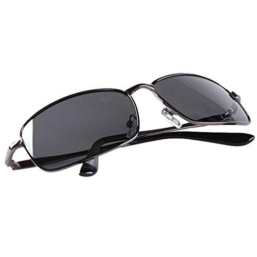 Or Hippie de Sunglasses LINNUO Polarisées Protection Noir Hommes Lunettes Cadre Conduire Aviateur Soleil Femmes Lentille Eyewear UV aH1gq