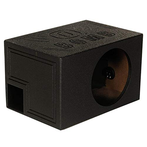 Q Power Single 8 Inch Vented Ported Car Subwoofer Sub Box Enclosure (2 Pack) (Q Power 8 In Subwoofer)