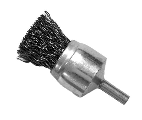 Hot Max 22019 3/4-Inch Crimped Wire Mounted End Brush, 1/4-Inch Round (Mounted Crimped Wire End Brush)