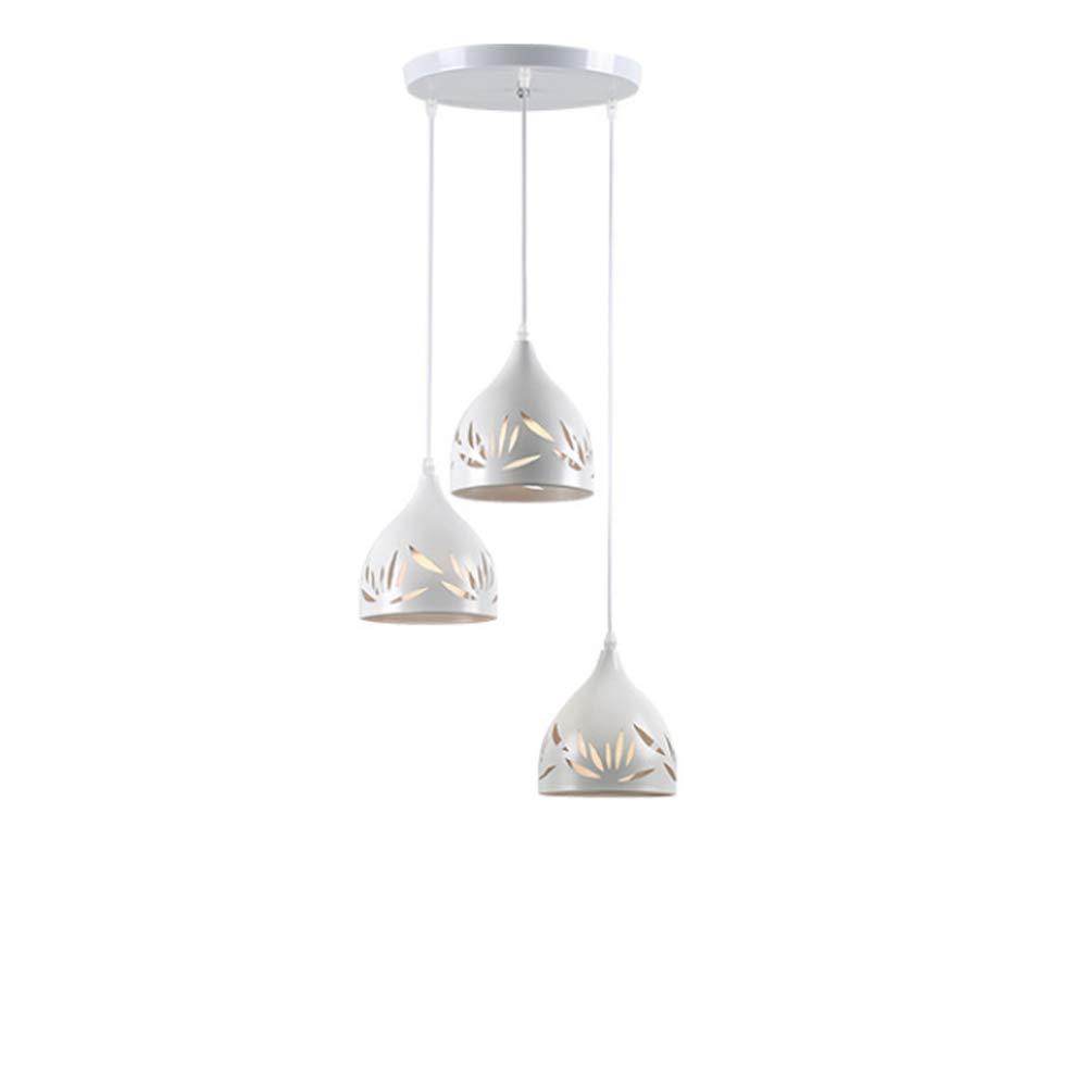 Moderne Minimalistische Hohle Deckenleuchte Aluminium Searchlight Wohnzimmer Studie Kinderzimmer Schlafzimmer Blatt Muster Schmiedeeisen Quelle Kronleuchter E27  3 Weiß