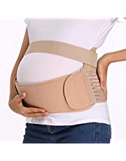 INFILAR Pregnancy Belt, 3-in-1 Maternity Belt Pregnancy Support Band with Waist/Back/Abdomen Belly Band for Pregnant Women, Lightweight Breathable Adjustable