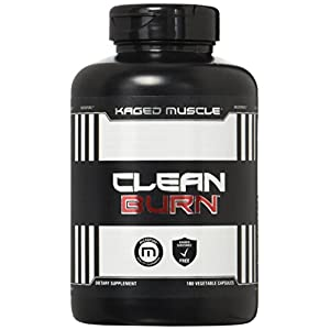 KAGED MUSCLE, Clean Burn Stimulant Free Weight Loss Supplement for Men & Women, 180 Veggie Diet Pills