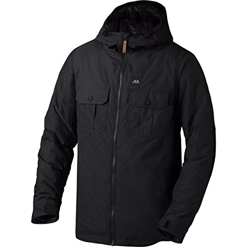(Oakley Men's Cedar Ridge BZI Jacket, Large, Jet Black)