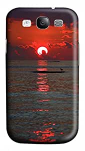 3D PC Case Cover for Samsung Galaxy S3 I9300 Custom Hard Shell Skin for Samsung Galaxy S3 I9300 With Nature Image- Red Sunset
