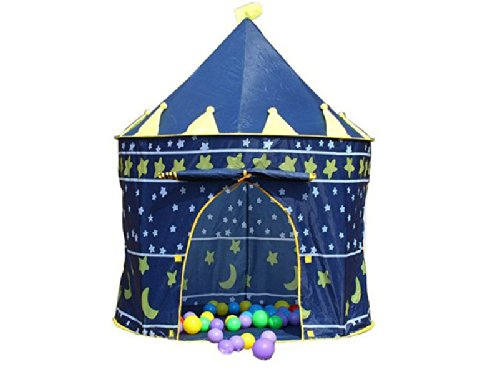 Hillington KIDS POP UP CASTLE PLAY TENT PLAYHOUSE BOYS WIZARD w 100 BALLS