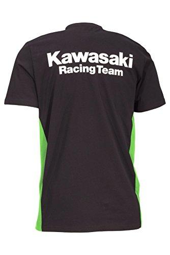 Kawasaki - Camiseta - Manga corta - para hombre Negro Schwarz Grün: Amazon.es: Ropa y accesorios