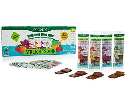 Stretch Island Organic Gluten-free Fruit Strips (48 count of Strawberry; Tropical; Mixed Berry; Apple Cinnamon) by Stretch Island