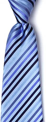 Tonal Stripe Extra Long Tie By Silk Rhino Neckwear In Microfiber