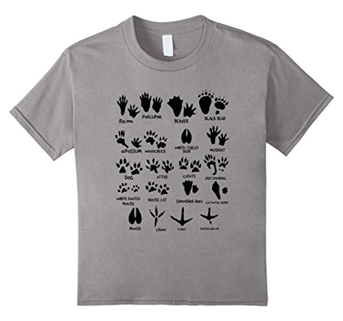 ck Tracks of the Northeast USA T-shirt 12 Slate (Animal Tracks T-shirt)