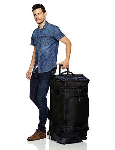AmazonBasics Ripstop Rolling Travel Luggage Duffle Bag With Wheels - 35 Inch, Black