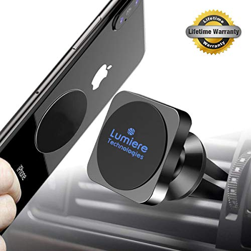 Magnetic Phone Mount for Car, Universal Magnetic Phone Mount and Holder for Any Phone, GPS, Including iPhone Xs MAX/XR/XS/X/8 Plus, Note 9/S9, Best Magnetic Phone Mount and Holder for 2019 (Incandescent Neodymium Medium Base)