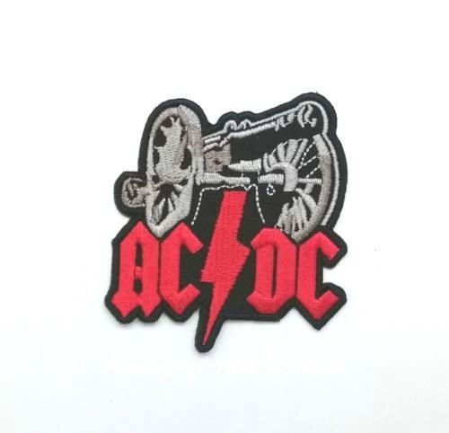 Wasuphand ACDC Canon DIY Embroidered Metal Rock Punk Retro Indy Music Band Sew Iron On Patch -