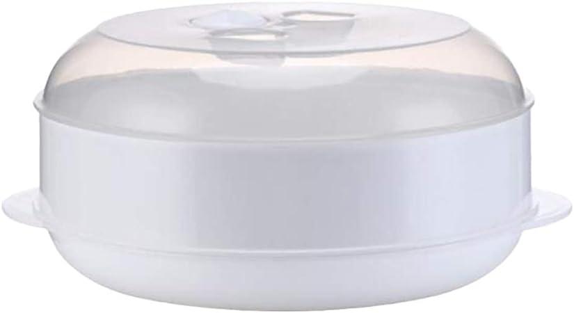 Hemoton Canasta de Vapor para Microondas Vaporera Multifunción para Microondas con Tapa Vaporera para Verduras Carne de Pescado (Una Capa): Amazon.es: Hogar