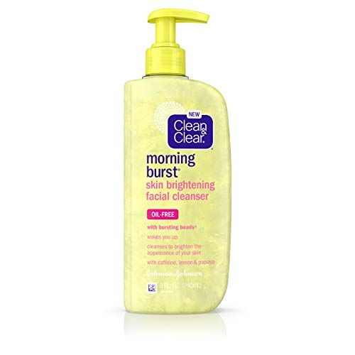 - Clean & Clear Morning Burst Skin Brightening Facial Cleanser with Caffeine, Lemon & Papaya, Gentle Daily Citrus Face Wash for All Skin Types, Oil-Free & Non-Comedogenic, 8 fl. oz (Pack of 6)