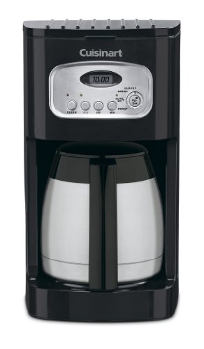 Cuisinart DCC-1150BK 10-Cup Classic Thermal Programmable Coffeemaker, Black (Coffee Maker Thermal Cup)