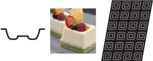 Flexipan 336343 Mini Square Savarin Nonstick Sheet Mold by Matfer Bourgeat (Image #1)