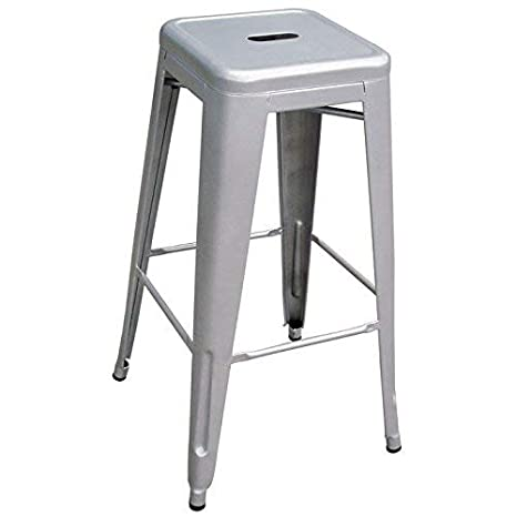 Super Amazon Com Amerihome Metal Bar Stool Set 30 Inch Silver Uwap Interior Chair Design Uwaporg