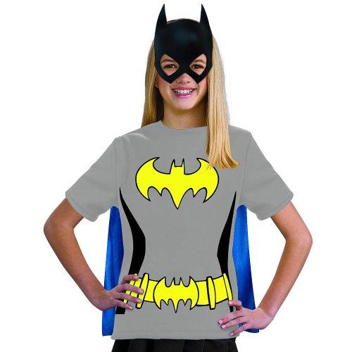 Rubies Kids Girls Batgirl Batman Halloween Costume Tee Shirt Mask & Cape Small