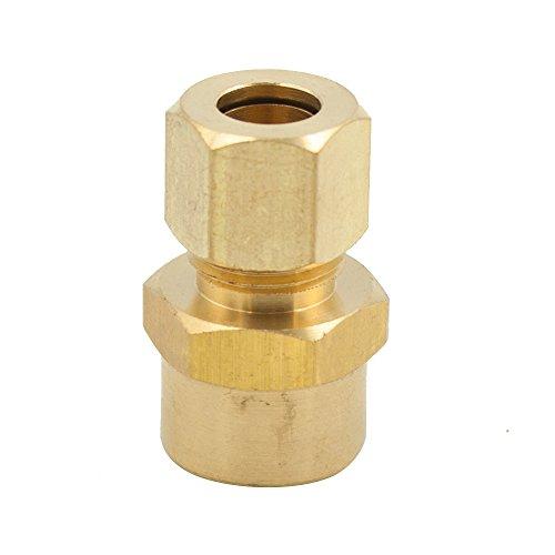 Legines Brass Compression Tubing Fitting, Female Adapter, 3/16
