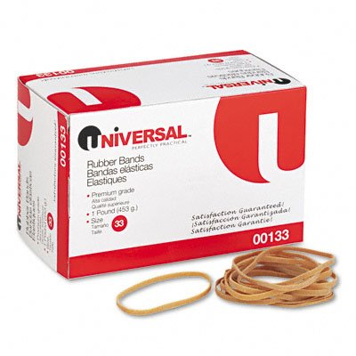 Universal : Rubber Bands, Size 33, 1/8 x 3-1/2, 630 per 1lb