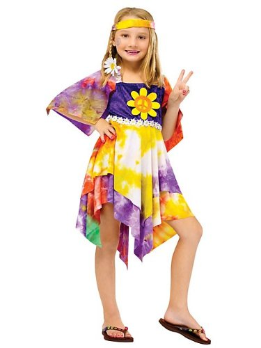 Daisy Hippie Girl Costume - Large -