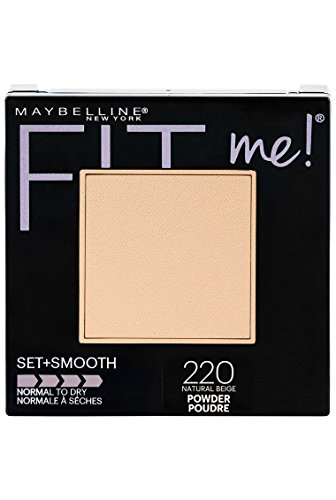 (Maybelline New York Fit Me Set + Smooth Powder Makeup, Natural Beige, 0.3 oz.)