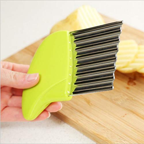 Hot Stainless Steel Potato Chips Making Peeler Cutter Vegetable Kitchen Knives Fruit Tool Knife Accessories Wavy Cutter