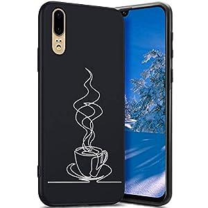 Robinsoni Cover Compatible con Huawei P20 Case Flessibile Nera Custodia in Gomma Antiurto Caso Modello Semplice Silicone… 6 spesavip