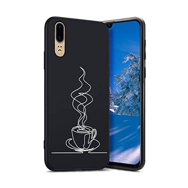 Robinsoni Cover Compatible con Huawei P20 Case Flessibile Nera Custodia in Gomma Antiurto Caso Modello Semplice Silicone… 1 spesavip