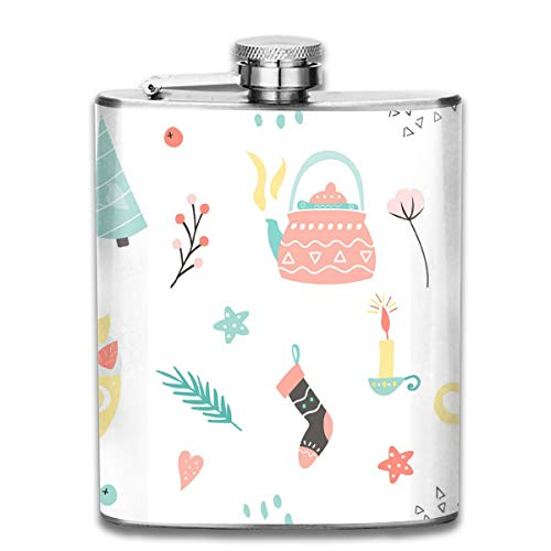 Oximing Customized Kettle, Socks and Candles Stainless Steel Wine Bottle, Personality Personalized Flask Gift ()