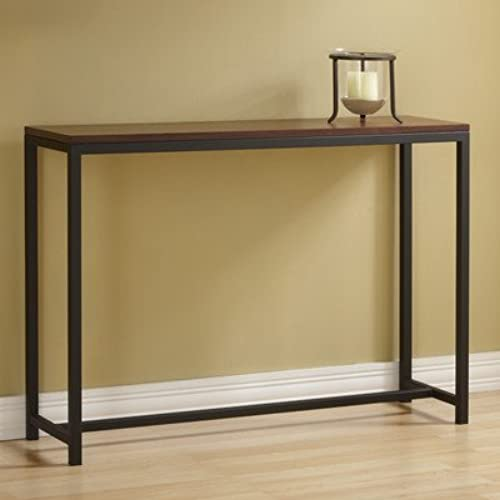 Tag   Foster Console Table, A Perfect Addition To Any Home, Black Frame  With Safari Wood