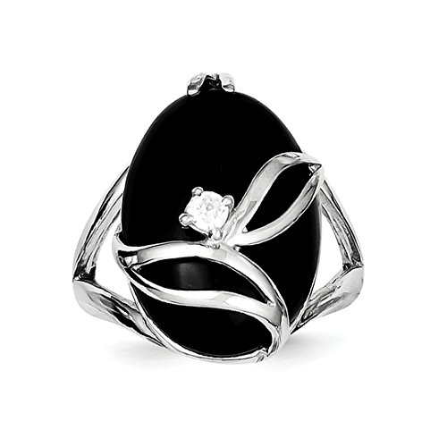 Black Onyx Set - ICE CARATS 925 Sterling Silver Black Onyx Cubic Zirconia Cz Band Ring Size 8.00 Stone Natural Fine Jewelry Ideal Gifts For Women Gift Set From Heart