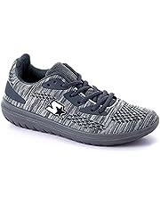 Starter Textile Mesh Panel Contrast Side Logo Lace-Up Unisex Walking Shoes