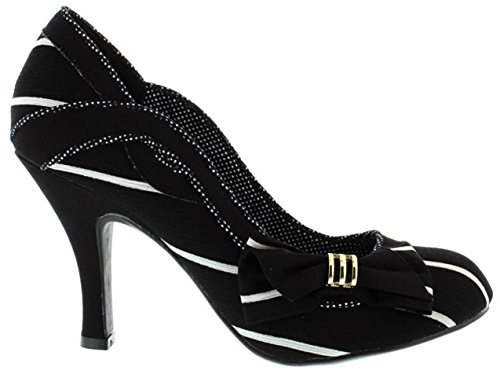 Womens White Shoes Miranda Shoo Black Heels Ruby Court tIvqw