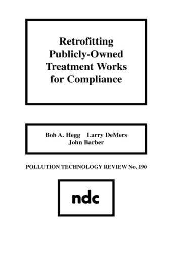 Retrofitting Publicly-Owned Treatment Works for Compliance (Pollution Technology Review)